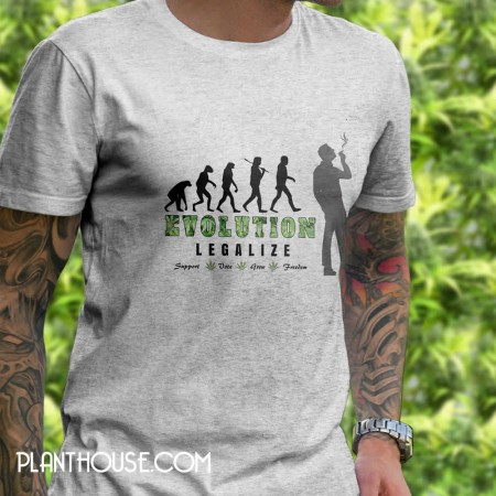 Legalize Weed T Shirt Evolution