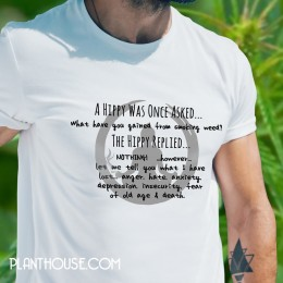 Hippy Quote Smoke Weed Tshirt