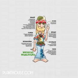 MMJ Benefits Hippy Stoner Shirt